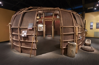 Wigwam in the Dunn Museum